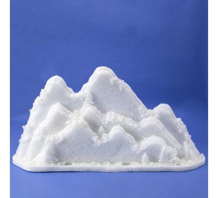 Décor de Noël montagne en mousse avec paillettes argentées 94cm