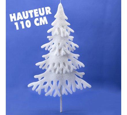 Sapin de Noël déco en mousse sans pied à suspendre H110cm