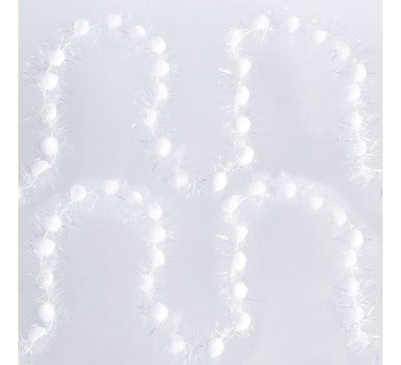 Lot de 2 guirlandes mini boules blanches 2,5m