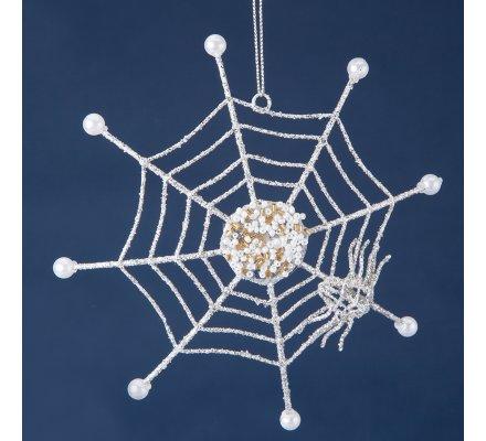 Assortiment de 2 étoiles dorées + toile d'araignée argentée 10cm pour sapin
