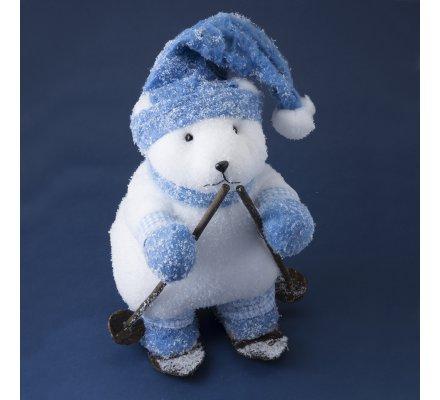 Figurine Marmotte déco bleu 58cm