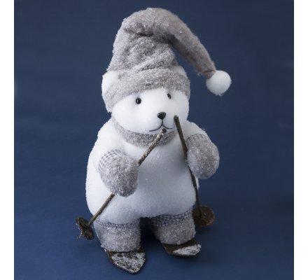 Figurine Marmotte déco gris 58cm