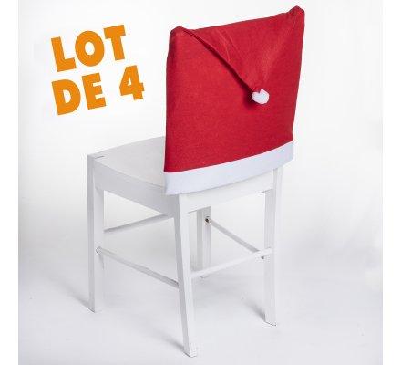 Lot de 4 housses, dessus de chaise deco de Noël 61x41cm