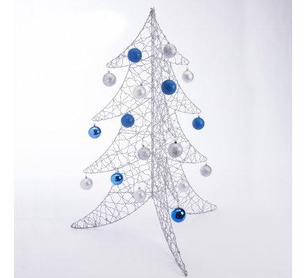 Sapin de Noël déco design en métal argenté 100cm
