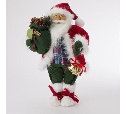 Figurine décorative Père Noël avec cloches H50cm