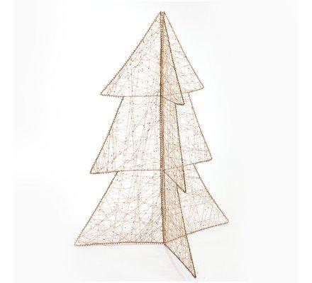 Arbre de Noël design filaire or à poser 80cm