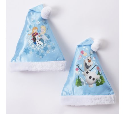 Lot de 2 bonnets de Noël Disney la Reine des neiges 2 motifs