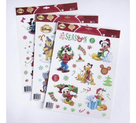 Lot de 3 planches de stickers de Noël Disneymotif Mickey, Minnie et Winnie L'ourson 42x30cm