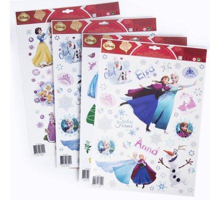 Lot de 4 planches de stickers Disney la Reine des neiges et Princesses