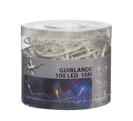 Guirlande lumineuse 100 Led longueur 10m avec jeux de lumière multicolore