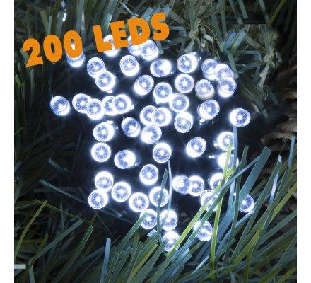 Guirlande lumineuse 200 Led longueur 10m avec jeux de lumière blanc froid