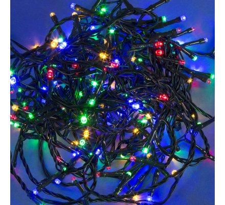 Guirlande lumineuse 300 Led longueur 15m avec jeux de lumière multicolore