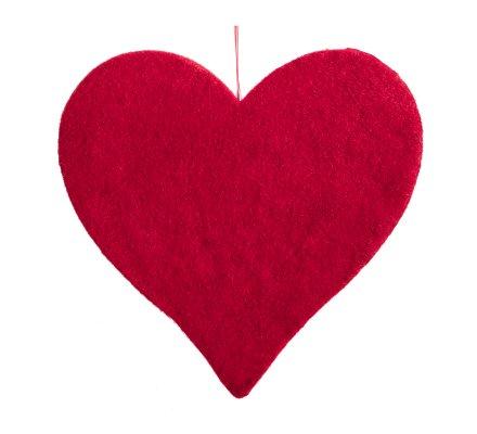Coeur rouge déco à suspendre 30cm