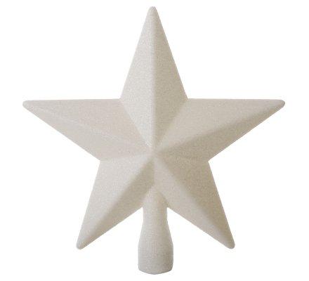Cimier de sapin de noël étoile blanche pailletée