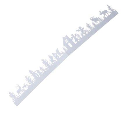 Sticker déco paysage Noël blanc L100cm