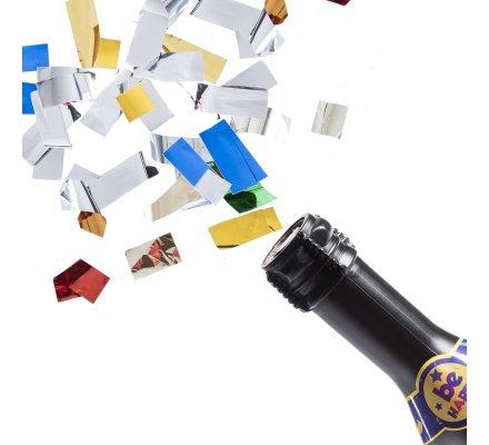 Canon à confetti forme bouteille 30cm