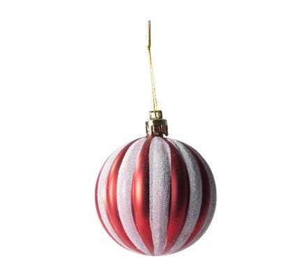 Coffret 16 boules de Noël Fantaisie rouges motifs variés