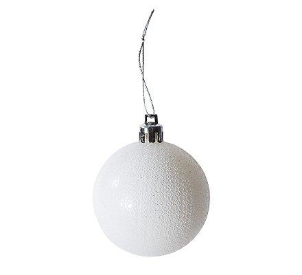 Coffret 16 boules de Noël blanches motifs variés déco sapin
