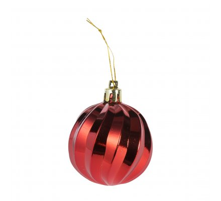 Coffret 16 boules de Noël rouges motifs variés déco sapin