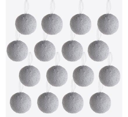 Lot de 16 boules de Noël effet boule de neige à accrocher au sapin
