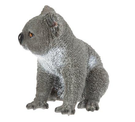 Statue déco koala assis en résine 22cm