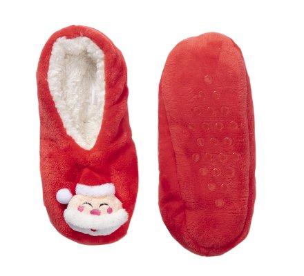 Chaussons de Noël rouges antidérapants, lavables en machine taille 35/38