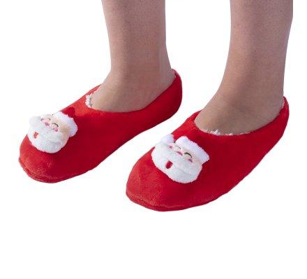 Chaussons de Noël rouges antidérapants, lavables en machine taille 31/35