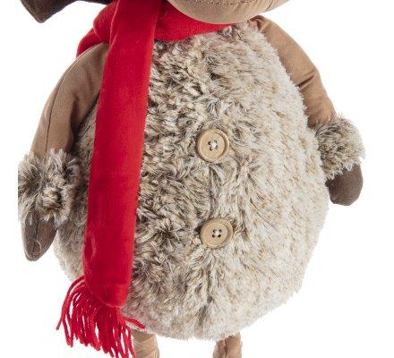 Figurine renne décoration de Noël avec jambes extensibles rouge et gris 50-95cm