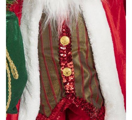 Figurine Père Noël debout grand modèle 120cm