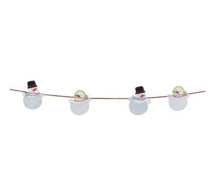 Lot de 2 bannières, ornements Père Noël et bonhomme de neige 200cm