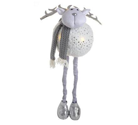 Figurine déco Noël renne jambes extensibles à LED H95cm