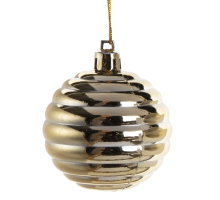 Coffret 16 boules de Noël décoration sapin 4 modèles dorés D6cm