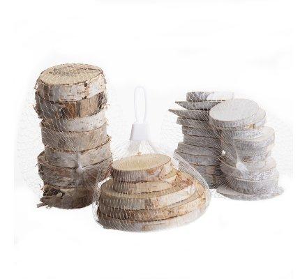 Lot de 3 assortiments rondins de bois déco de table nature ronds et ovales environ 30 pièces