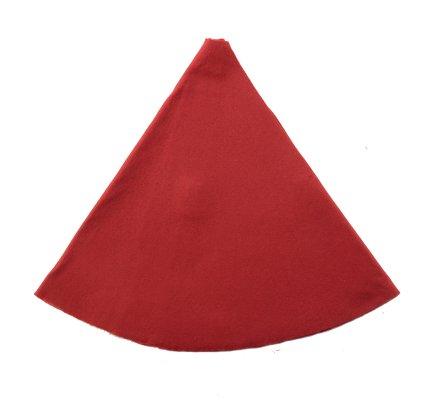 Jupe de sapin, couvre-pied en feutrine rouge 90cm
