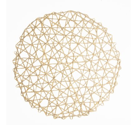 Lot de 5 sets de table ronds filament raphia naturel D 38cm