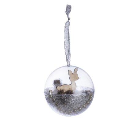 Lot de 4 boules de Noël à garnir soi-même argentées à paillettes D 10cm