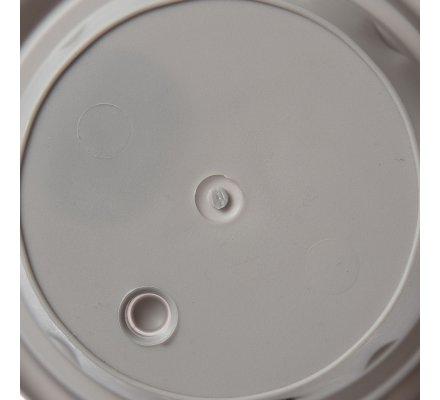 Jardinière, balconnière pot rond en plastique D 19,5cm coloris gris