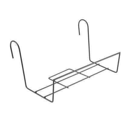 Support pour balconnière en métal noir 40x20x22cm