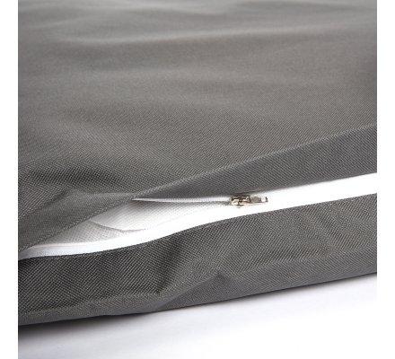 Coussin pour chien déhoussable 100% polyester 90x70cm coloris gris