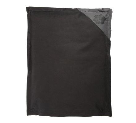 Coussin pour chien déhoussable 100% polyester 90x70cm coloris noir