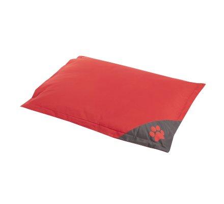 Coussin pour chien déhoussable 100% polyester 90x70cm coloris rouge