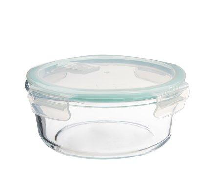 Lot de 3 boîtes de conservation hermétiques rondes en verre borosilicate