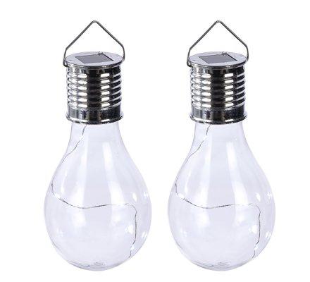 Lot de 2 ampoules led, suspensions solaires en plastique transparent