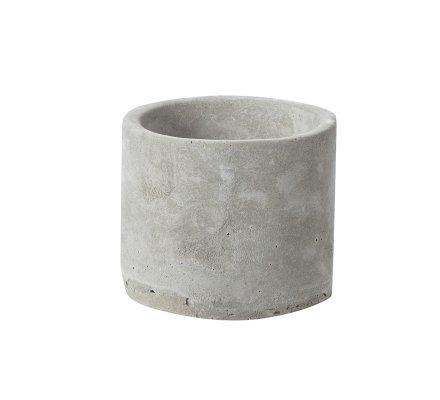 Lot de 2 cages déco ronde en métal avec fermoir et pot en ciment 2 tailles