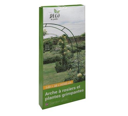 Arche de jardin en métal pour plante grimpante H240cm vert foncé