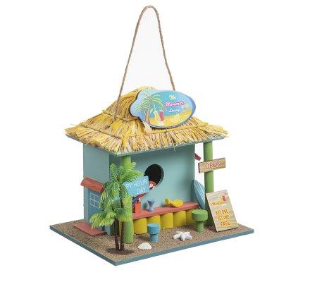 Cabane à oiseaux, nichoir déco bar tropical à poser ou suspendre