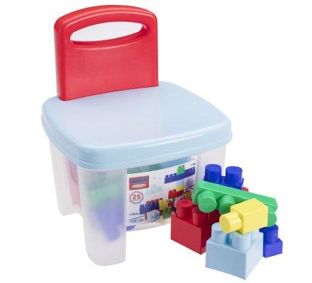 Ecoiffier chaise 25 briques, blocs de construction jeu enfant