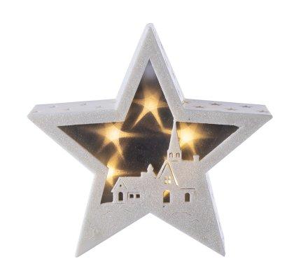 Etoile décoration de Noël lumineuse à Led 21,5x5x21cm