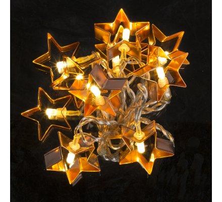 Guirlande de Noël étoiles lumineuses à Led en métal 135cm