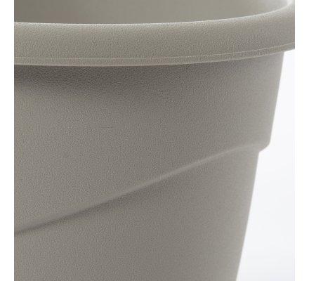 Lot de 2 cache-pots en plastique gris clair 2L EDA D18cm x H15cm